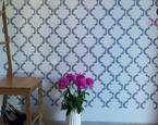 Wzór na ścianie: malowana tapeta! Malowanie ścian z szablonem