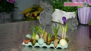 Wielkanocny stroik na stół
