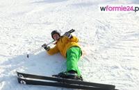 Nauka jazdy na nartach - jak bezpiecznie upadać i wstawać