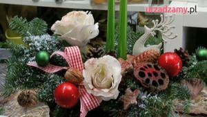 Bożonarodzeniowy stroik - świąteczna dekoracja stołu