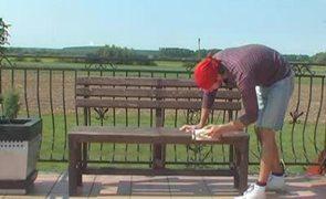 Renowacja ławki ogrodowej