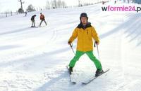 Nauka jazdy na nartach - zjazd i hamowanie pługiem