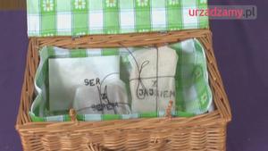 Wiklinowy koszyk na piknik