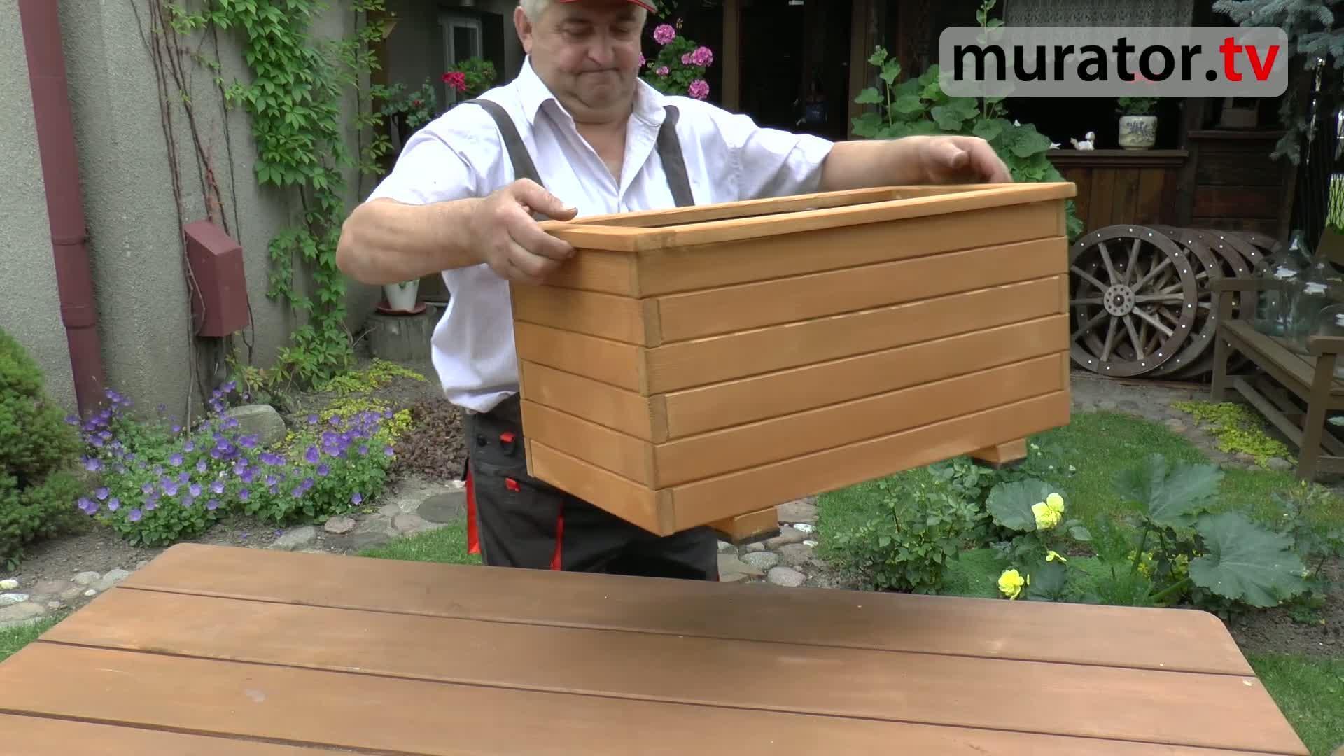 Budowa drewnianej donicy - zrób to sam! Bez młotka i gwoździ...