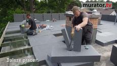 Stropodach - warstwa spadkowa na dachu płaskim