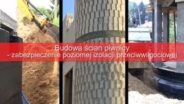 Budowa ścian piwnicy-zabezpieczenie poziomej izolacji przeciwwilgociowej