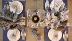 Dekoracja stołu na karnawał i sylwestra w stylu hampton
