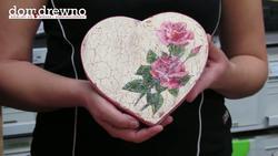 Drewniane, zdobione serce na Dzień Mamy - cz. 2 - Decoupage
