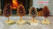 Świąteczne ozdoby: dekoracje z szyszek