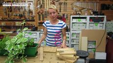 Drewniane, kolorowe osłonki na donice - cz. 1 - przygotowanie elementów