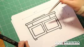 Jak wykonać szafkę łazienkową - cz. 1 - projekt