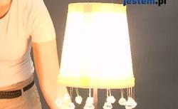 Stylowa lampa z kryształkami - zrób ją sam