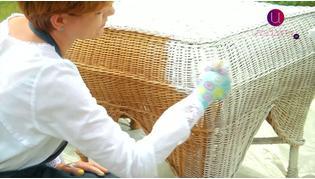 Malowanie mebli wiklinowych