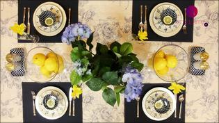 Dekoracja stołu na wiosenne przyjęcie z owocową dekoracją