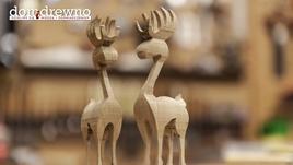 Oryginalne świąteczne ozdoby - drewniane renifery