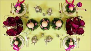 Stół na wielkanoc. Pomysł na elegancką dekorację stołu