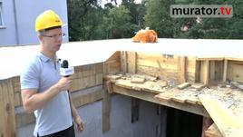 Strop monolityczny - krawędź stropu nad schodami