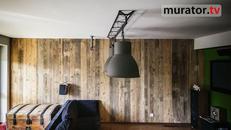 Stare deski, stara cegła, meble ze starego drewna - piękne!