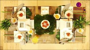 Dekoracja stołu na wiosenne i letnie przyjęcie w eleganckim stylu