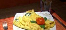 Naleśniki kukurydziane ze szpinakiem