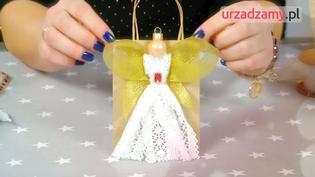 Pakowanie prezentów wideo instrukcja: koronkowy aniołek