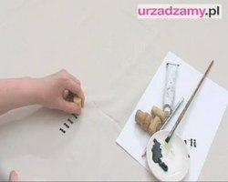 Dekorowanie zasłony: stemplowanie tkaniny