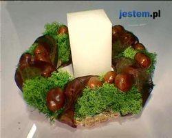 Wieniec z kasztanami: jesienny stroik