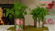 Doniczka na zioła z puszki: dekoracja decoupage - wideo instruktaż