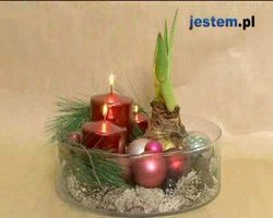 Stroik świąteczny w szklanym naczyniu: wideo