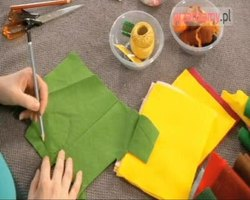 Dekoracja w jesiennym klimacie - ozdobna poduszka